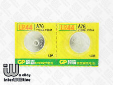 2 Pieces GP LR44 LR1154 1166A AG13 A76 V13GA PX74A Alkaline Button Cell Battery