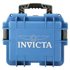 Invicta Collectors Three Slot Watch Box in Blue DC3BLU