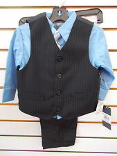 Infant, Toddler, & Boys Perry Ellis Purple or Blue 4pc Vest Suit Size 12mo - 5