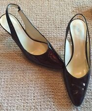 Anne Klien 8.5  Slingbacks Shoes Heels Dark Magenta Womans