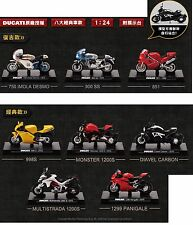 Rare Lot of 8 New 2016 Taiwan Ducati 1:24 Die Cast Motor - Collectable