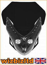 Motorbike Twin Lights Spectre Fairing Headlight With Fixings Black HLUSPEBLK