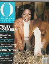 O, The Oprah Magazine October 2000 VOL. 1 NO. 4 Back Issue FAST FREE SHIPPING