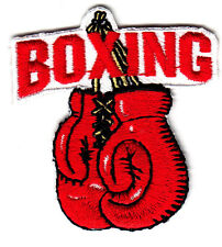 """BOXING""  GLOVES PATCH - Iron On Embroidered Applique Patch-Boxer, Sports"