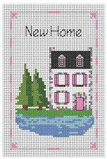 Counted cross stitch card kit, ''New Home""