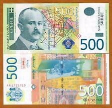 Serbia, 500 Dinara, 2012, P-59b, Aa-Prefix, Unc