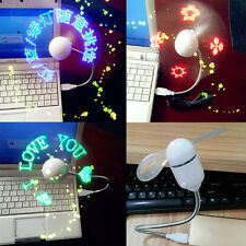 Flexional Mini USB Programmable Flashing LED Light DIY Messages Cooling Fan