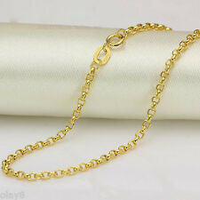 "[FINE JEWELRY] 18K Yellow Gold Necklace 2mm Cable Chain / 3g - 23.6"" L"