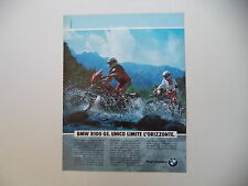 advertising Pubblicità 1991 MOTO BMW R100 R 100 GS