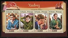 SAO TOME 2016 CHESS ANAND, VACHIER-LAGRAVE, KRAMNIK & CARUANA  SHEET MINT NH