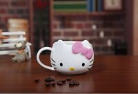Hello Kitty Ceramic Cup Tea Milk Coffee Mug Pink Bowknot lovely Girl gift!