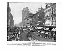 State street Chicago / CENTRAL PARK MINNEAPOLIS USA   1897 PRINT