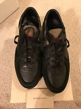 New Authentic Burberry Men Black Lowtop sneakers Shoes Logo Nova Check 40 7 $590