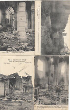 Lot 4 cartes postales anciennes GUERRE 14-18 WW1 MARNE SAINT-HILAIRE-LE-GRAND 2