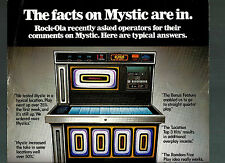 Double Sided Poster for selling a Rock-ola Jukebox Mystic Model great graphics