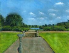 Terry George painting of view of the lake from Wolterton Hall
