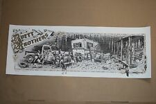 The Avett Brothers Little Rock Poster by Dig My Chili Signed and Numbered