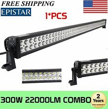 52'' 300W SPOT FLOOD LED WORK LIGHT BAR SUV 4WD ATV Boat JEEP TRUCK Driving Lamp