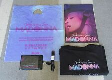Madonna JAPAN tour NOT FOR SALE goods TOKYO only T-shirt TOUR BOOK carrier bag