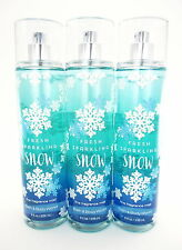 Bath Body Works 3 Fresh Sparkling Snow Fragrance Mist 8oz Body Splash Spray