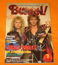BURRN! JAPAN 7/1986 JUDAS PRIEST IRON MAIDEN KISS OZZY OSBOURNE LOUDNESS POSTER