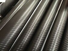【3D】 CARBON FIBER Black Wrap  Vinyl  Sheet  Sticker 1510mm X 300mm