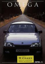 Prospekt Opel Omega 9/89 1989 brochure Auto PKWs Autoprospekt broschyr brosjyre