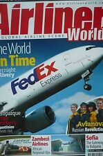 """AIRLINER WORLD"" Magazine - Oct 2011 Issue - The World On Time - Fedex Express"