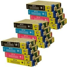 12 Replacements for Epson T0711 T0712 T0713 T0714 Printer Ink Cartridges