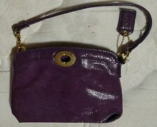 AUTHENTIC Coach Purple Large Turnlock Wristlet ~ BEAUTIFUL ~