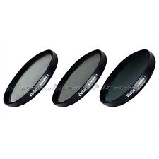 58mm UV CPL ND8 3 Piece Multi Coated Filter Kit for Canon GL1 GL2 HFS10
