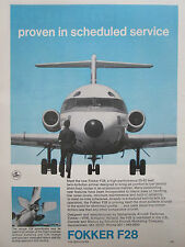 5/1970 PUB FOKKER AIRCRAFT HOLLAND F28 FELLOWSHIP TWIN JET AIRLINER FLUGZEUG AD