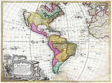 ART PRINT POSTER MAP OLD HOMANN HEIRS SOUTH NORTH AMERICA NOFL0686