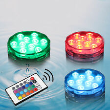 LED Waterproof Multicolor Underwater Diving Colorful Remote Control Diving Light