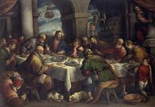 BEST ART #  Bassano Francesco The Last Supper painting ON CANVAS # 36 INCH LARGE