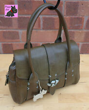 RADLEY - Medium 'Marsden' Dark Olive Leather Grab Bag *Excellent Condition*