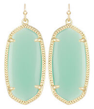 Kendra Scott Elle Dangle Earrings in Chalcedony Green & 14K Gold Plated