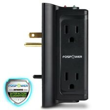 FosPower [S4WJ7] Side Access 4 Outlet 720J Surge Protector Wall Tap UL Listed