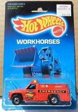 WORKHORSES TRUCK FORD DODGE RESCUE RANGER CHEVY RED 54 # 5145 1986 HW HOT WHEELS