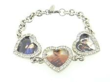 Heart Photo Keepsake Crystal Bracelet Made in USA 7.5 inches 1 Piece