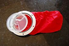 "DECK HATCH CLEAR LID WITH STRONG BAG RED 4"" 100 mm KAYAK RIB BOAT       SAIL DIY"