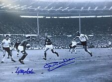 ENGLAND 1966 WORLD CUP SIGNED  GEORGE COHEN AND JACK CHARLTON 50TH ANNIVERSARY