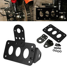 Metal Axle Side Mount License Plate Rear Taillight Bracket Holder For Harley