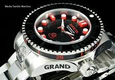 Invicta 47mm Grand Diver 2 Gen II Automatic Black Dial Red Accent Bracelet Watch