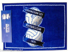 RUG BIRMINGHAM CITY PRINTED BEDROOM MAT B'HAM BLUES CREST FOOTBALL CLUB TEAM