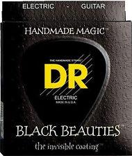 DR Strings BKE-10 Black Beauties Black Coated Electric Guitar Strings 10-46 2 pk