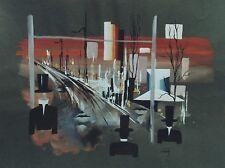 """""""COMPOSITION SUR LES PAUMES """" Aquarelle sur papier par Myriam BERING 1974"""