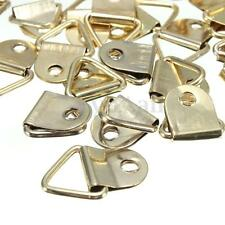 100 Picture Frame Hanging Triangle D Rings Frames Hanger Hooks w Screws Gold New