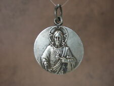 Vintage Catholic Medal ST. MARGARET MARY Sacred Heart Jesus 35mm Revillon