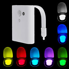 LED Toilet Seat Night Lamp Light Sensitive Motion-Activated 7 Color Waterproof
